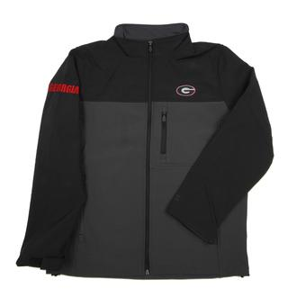 Georgia Bulldogs Colosseum Black & Grey Yukon II Softshell Full Zip Jacket (Adult XL)
