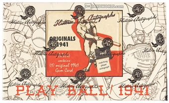 2014 HAC Originals 1941 Playball Cut Signature Baseball Hobby Topper Pack