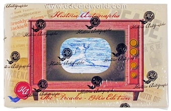 2013 Historic Autograph Decades 1940's Baseball Hobby Box