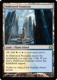 Magic the Gathering Return to Ravnica Single Hallowed Fountain Foil
