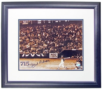 Hank Aaron Autographed & Framed Atlanta Braves 11x14 Photo (Steiner COA)