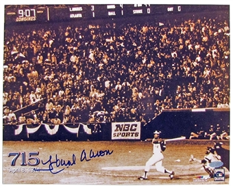 Hank Aaron Autographed Atlanta Braves 11x14 Photo (Steiner COA)