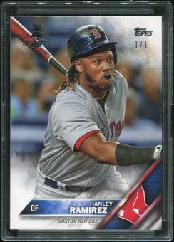 2016 Topps Baseball Hawaii Summit Exclusive #321 Hanley Ramirez 1/1