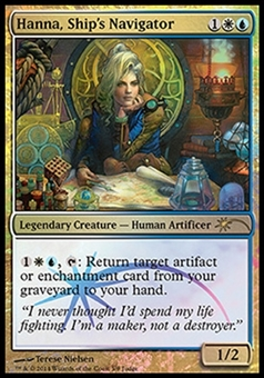 Magic the Gathering Promo Single Hanna, Ship's Navigator JUDGE FOIL - NEAR MINT (NM)