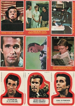 Happy Days 1976 Topps 44 Card Set + 11 Sticker Set