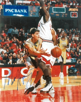 Matt Harpring Autographed Georgia Tech Yellow Jackets 8x10 Photo (Press Pass)