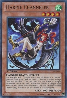 Yu-Gi-Oh Lord Tachyon Galaxy 1st Ed. Single Harpie Channeler Ultimate Rare - NEAR MINT (NM)
