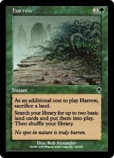 Magic the Gathering Invasion Single Harrow Foil