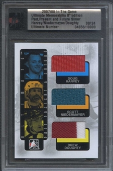 2007/08 ITG Ultimate 8th Harvey Niedermayer Doughty Triple Jersey #08/24