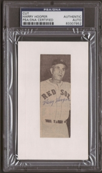 Harry Hooper Autograph (Index Card) PSA/DNA Certified *7952