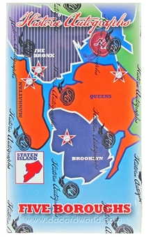 2013 Historic Autograph Five Boroughs Baseball Hobby Box