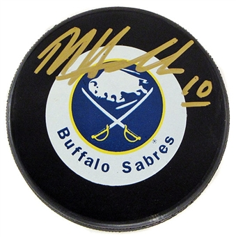 Dale Hawerchuk Autographed Buffalo Sabres Throwback Hockey Puck