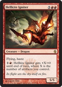 Magic the Gathering Mirrodin Besieged Single Hellkite Igniter Foil