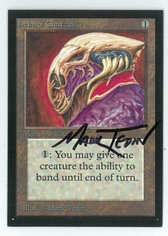 Magic the Gathering Beta Artist Proof Helm of Chatzuk - SIGNED BY MARK TEDIN