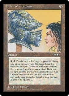 Magic the Gathering Alliances Single Helm of Obedience - SLIGHT PLAY (SP)