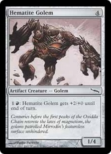 Magic the Gathering Mirrodin Single Hematite Golem Foil