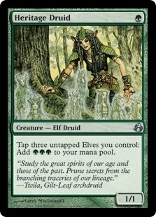 Magic the Gathering Morningtide Single Heritage Druid Foil