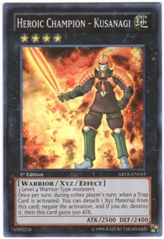 Yu-Gi-Oh Abyss Rising Single Heroic Champion - Kusanagi Super Rare