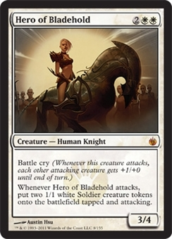 Magic the Gathering Mirrodin Besieged Single Hero of Bladehold Foil