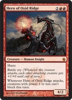 Magic the Gathering Mirrodin Besieged Single Hero of Oxid Ridge - NEAR MINT (NM)