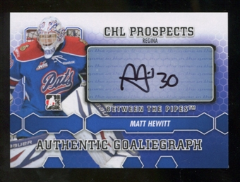 2012/13 In the Game Between The Pipes Autographs #AMH Matt Hewitt Autograph