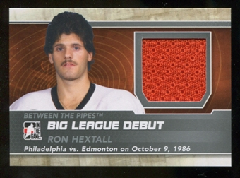 2012/13 In the Game Between The Pipes Big League Debut Jerseys Silver #BL19 Ron Hextall* /100