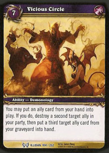 WoW Illidan Single Vicious Circle (HfI-104) NM/MT