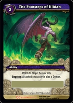 WoW Illidan Single The Footsteps of Illidan LOOT (HfI-LOOT1) Unscratched Loot Card
