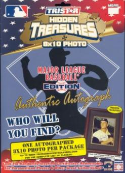 2003 Tristar Hidden Treasures Series 1 Baseball Autographed 8x10 Pack