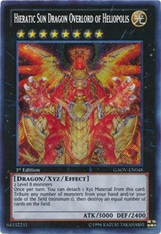 Yu-Gi-Oh Galactic Overlord Single Hieratic Sun Dragon Overlord of Heliopolis Secret Rare