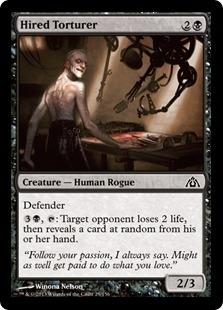 Magic the Gathering Dragon's Maze Single Hired Torturer Foil