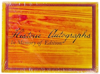 2010 Historic Autographs In Memory Of Baseball Hobby Box