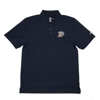 Oklahoma City Thunder Adidas Navy Climalite Performance Polo