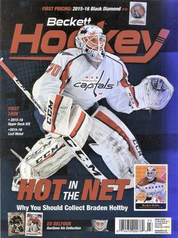 2016 Beckett Hockey Monthly Price Guide (#283 March) (Braden Holtby)