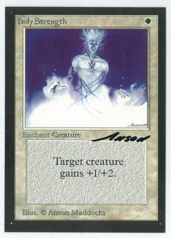Magic the Gathering Beta Artist Proof Holy Strength - SIGNED BY ANSON MADDOCKS