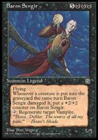 Magic the Gathering Homelands Single Baron Sengir MODERATE PLAY (VG/EX)