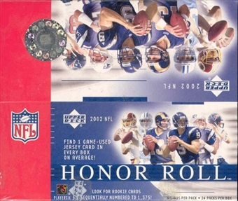 2002 Upper Deck Honor Roll Football 24 Pack Box