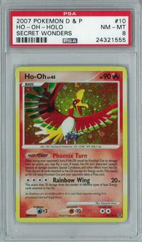 Pokemon Diamond & Pearl Secret Wonders Ho-Oh 10/132 Holo Rare PSA 8