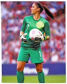 Hope Solo Autographed Team USA Soccer 16x20 Photo