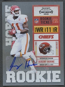 2010 Playoff Contenders #147 Jeremy Horne /500 Rookie Autograph