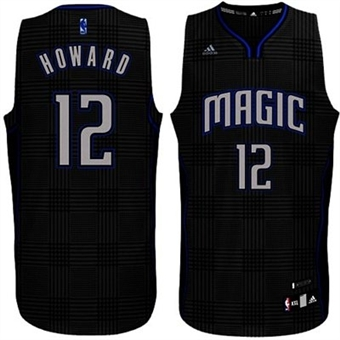 Dwight Howard #12 Orlando Magic Adidas Black Rhythm Swingman Jersey (Size XX-Large)
