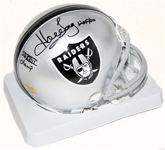 Howie Long Autographed Los Angeles Raiders Mini Helmet (Gridiron)
