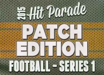2015 Hit Parade Football Series 1: Patch Edition Pack (6 Hits per Pack)