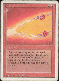 Magic the Gathering 3rd Ed (Revised) Single Fork - HEAVY PLAY (HP)