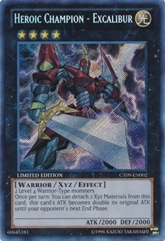 Yu-Gi-Oh Collector Tin Single Heroic Champion - Excalibur Secret Rare - NEAR MINT (NM)