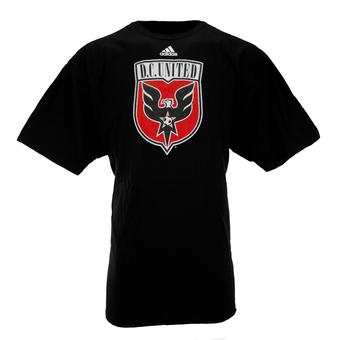 D.C. United Adidas Black The Go To Tee Shirt (Adult XXL)