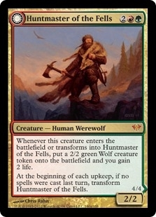 Magic the Gathering Dark Ascension Single Huntmaster of the Fells - SLIGHT PLAY (SP)