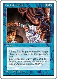 Magic the Gathering 4th Edition Single Hurkyl's Recall - NEAR MINT (NM)