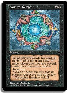 Magic the Gathering Fallen Empires Single Hymn to Tourach - Danforth - NEAR MINT (NM)