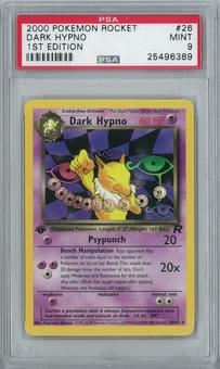 Pokemon Team Rocket 1st Edition Dark Hypno 26/82 Holo Rare PSA 9